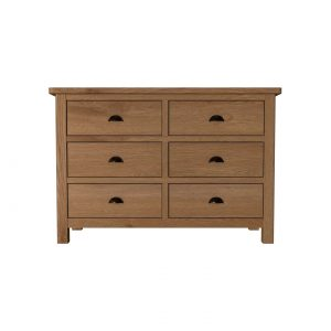 Kettlewell Oak Wide Chest of Drawers