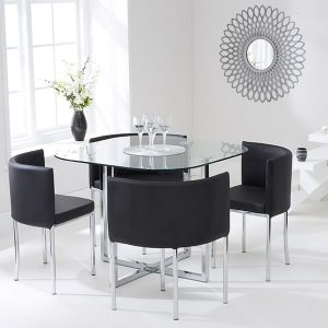 Abingdon Stowaway Dining Set - Black