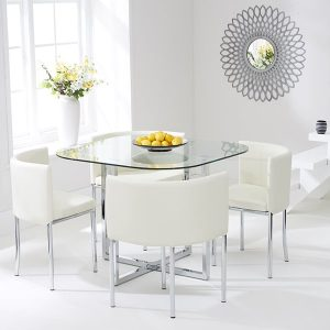 Abingdon Stowaway Dining Set - White