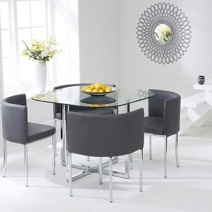 Abingdon Stowaway Dining Set - Grey