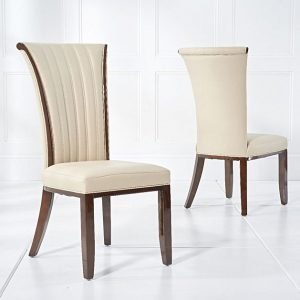 Almeria Cream Leather Dining Chair