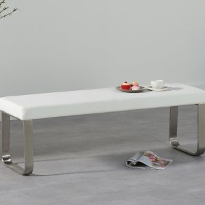 Ava Medium White Bench