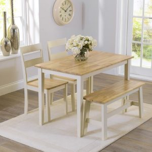 Chichester Oak And Cream Dining Set