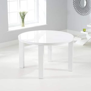 Ava 120cm Round High Gloss Dining Table