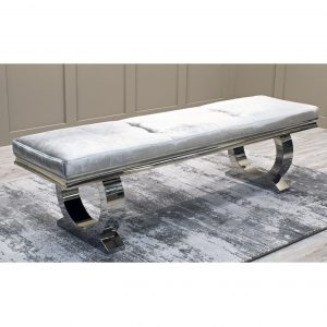 Arianna Dining Bench - Pewter 1800