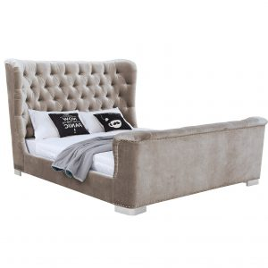 Belvedere Super King Size Bed - 6' Champagne