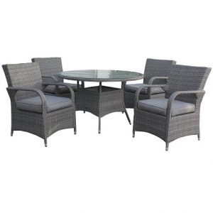 Royalcraft Paris 4 Seat Round Deluxe Dining Set