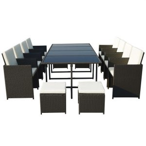 Royalcraft Cannes 12 Seat Cube Set - Black