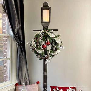 DIY Lamppost with lantern