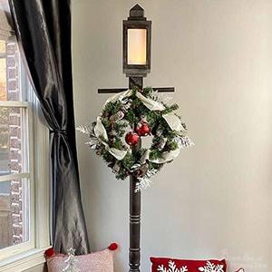 DIY Lamppost with lantern