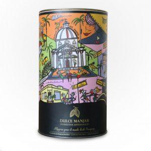 caja cilindrica dulce manjar