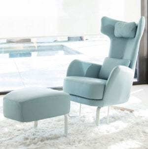 Kangou chair with stool from Fama