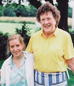 Sara Moulton, '81 and Julia Child