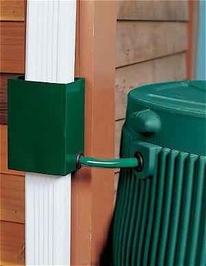 Gardeners Supply Downspout Diverter, Green