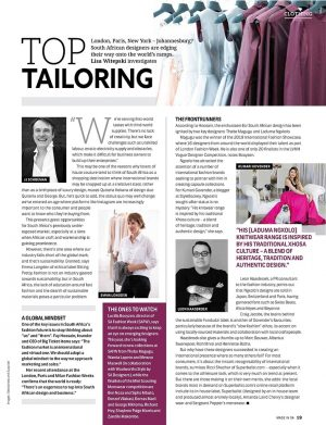 Top Tailoring   South African Fashion Designers