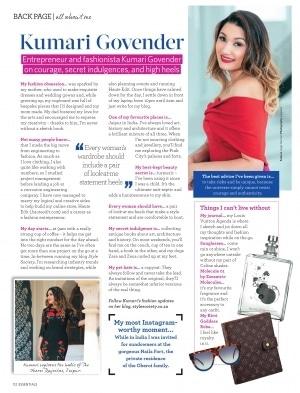 Essentials Magazine ALL ABOUT ME - Kumari Govender