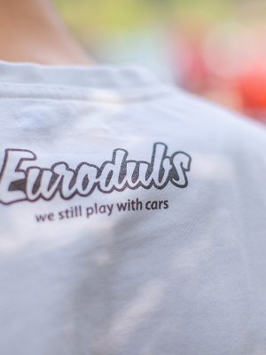 Eurodubs white t-shirt back print