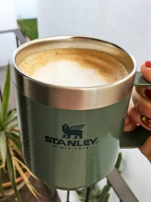 Cappuccino in Stanley Stainless Steel Camp Mug