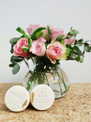 A Little Treat with Gold Foil Pot and Posy Cookies