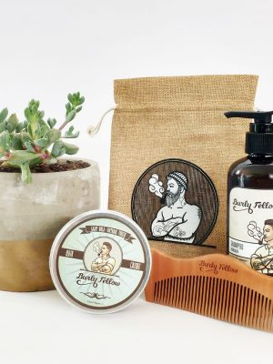Groomed Fellow Gift Pack with a Succulent - Gold Dipped Pot