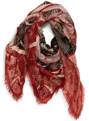 Treasure & Bond print wool scarf   40plusstyle.com