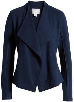Caslon drape collar blazer | 40plusstyle.com