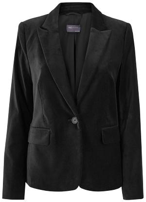 Marks & Spencer velvet fitted blazer | 40plusstyle.com