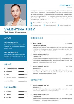 Engineer CV Design