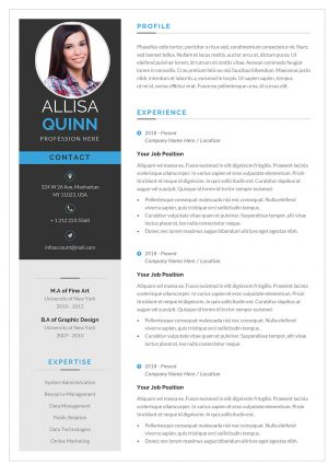 Novo Resume Template for 2021