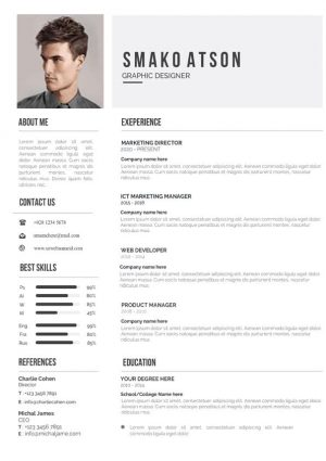 Job Application Resume Template