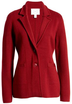 1901 stretch sweater blazer | 40plusstyle.com