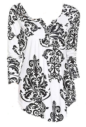 Printed top to hide belly | 40plusstyle.com