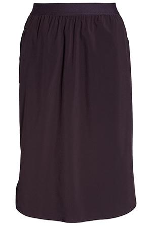 Zella woven pull-on skirt   40plusstyle.com
