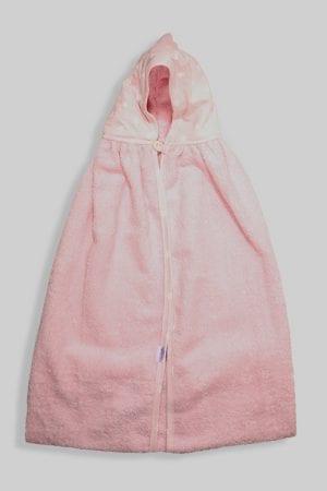 מגבת ענקית לתינוק עם כובע כוכבים ורוד