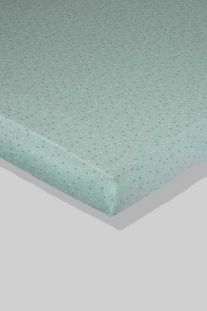 סדין לתינוק - ירוק נקודות - מיטת תינוק/מיטת מעבר | עריסה