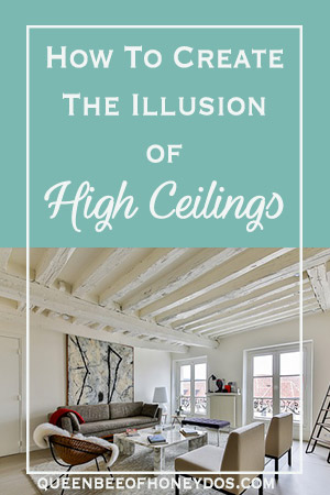 How to Create the Illusion of High Ceilings and extend your short walls. Designer tips and tricks for getting that professional look.