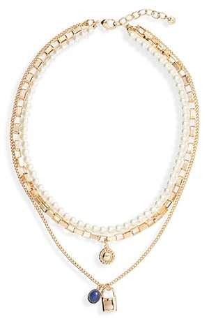 Halogen tiered necklace | 40plusstyle.com