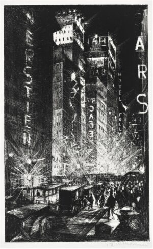 The Great White Way by C. Nevinson