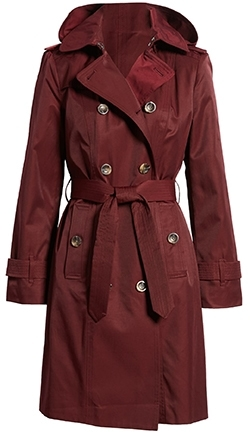 London Fog double breasted trench coat | 40plusstyle.com