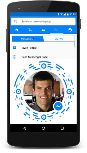 Scan código do messenger