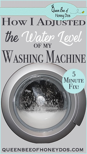 How To Adjust Washing Machine Water Levels   DIY   Cleaning