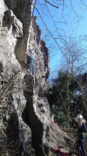 Klettern Mägdeberg Hegau Bodensee