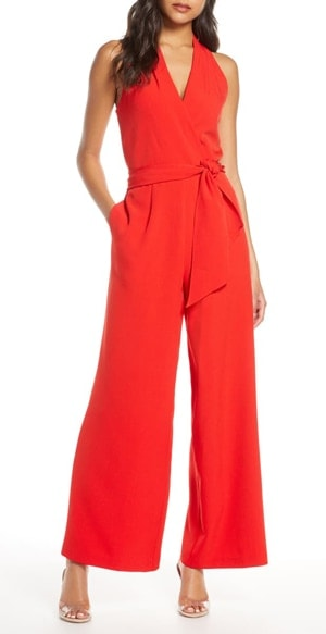 red jumpsuit | 40plusstyle.com
