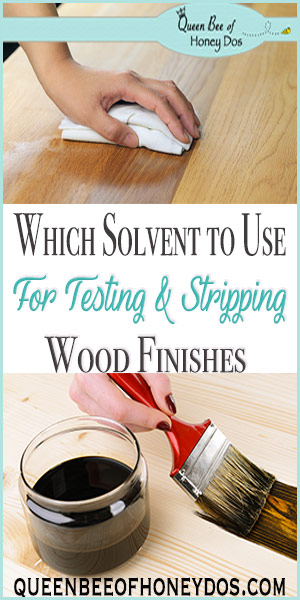 Which Solvent to Use for Testing and Stripping Wood   DIY   Woodworking   Finishes   Furniture