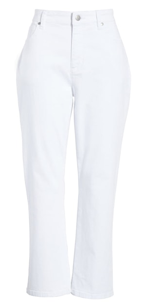 White cropped jeans | 40plusstyle.com