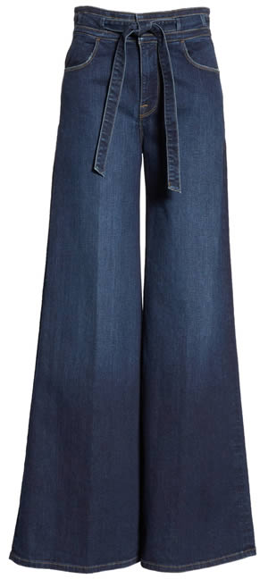 high waist full flare pants