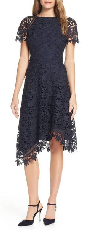 Asymmetrical dress - black lace | 40plusstyle.com