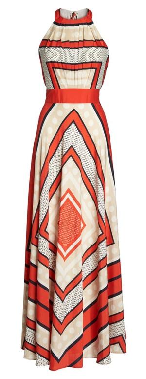 orange maxi dress | 40plusstyle.com