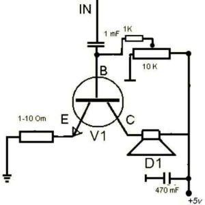 Усилитель на одном транзисторе-2
