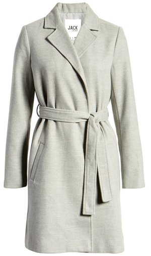 Jack by BB Dakota belted coat | 40plusstyle.com
